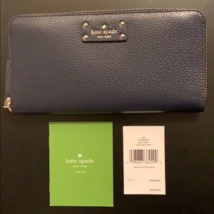 NEW Kate Spade Neda Grove Street Leather Wallet
